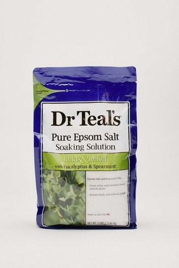 Green Dr Teal's Pure Epsom Salt Soaking Solution