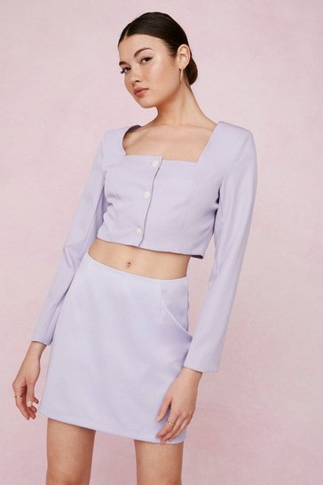 Lilac Bridal High Waisted Mini Skirt