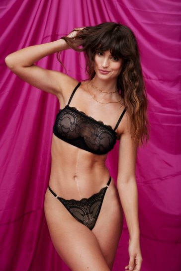Black Lace Get Together Bralette and Panty Set