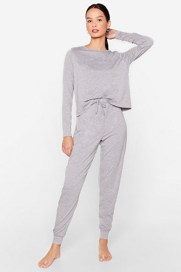 Grey marl Time to Unwind Joggers Lounge Set