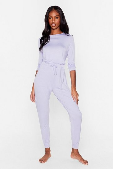 Lilac Time to Unwind Joggers Lounge Set