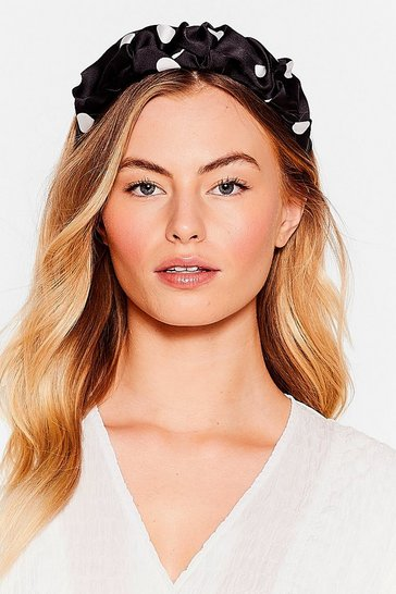 Black Spot Talkin' About Me Satin Knot Headband