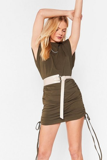 Nude If It's Knot Important Faux Leather Circle Belt