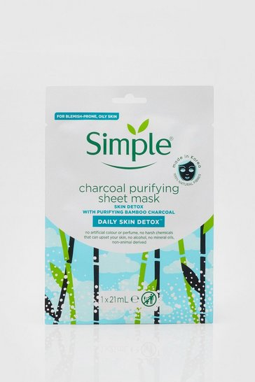White Simple Purifying Charcoal Sheet Mask 1pc