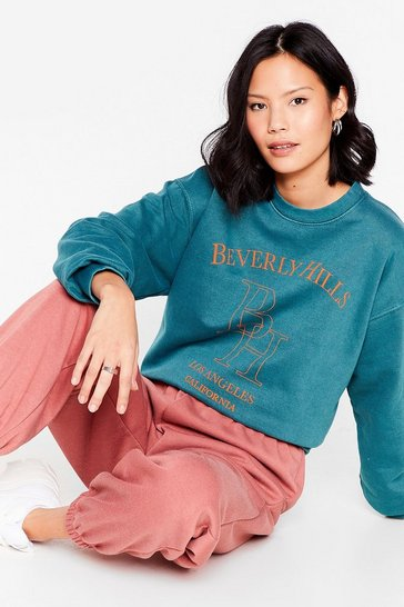 Forest Beverly Hills Oversized Graphic Sweatshirt