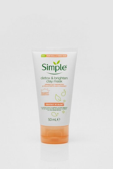 White simple Protect n Glow Clay Mask 50ml