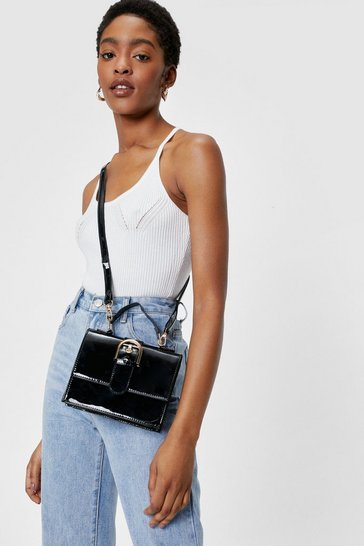 Black WANT Flap Top Crossbody Bag