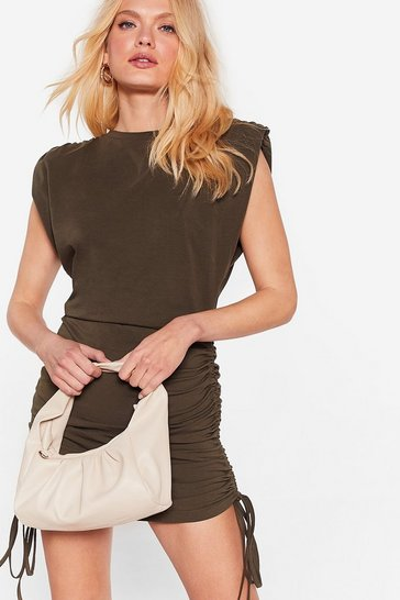 Beige WANT We're on the Slouch Shoulder Bag