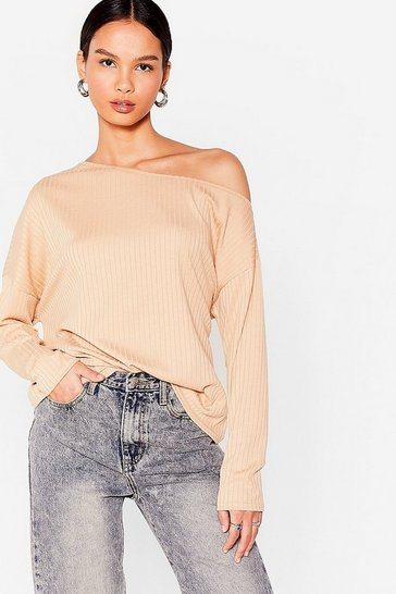 Stone Rib's Not the Time Off-the-Shoulder Relaxed Top