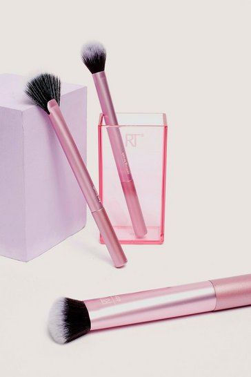 Pink Real Techniques 3-Pc Cosmetic Brush Set