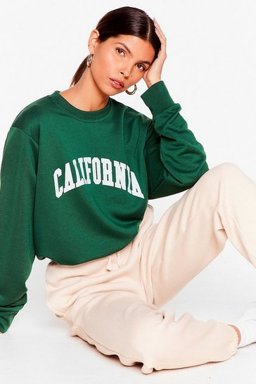Forest California Girls Oversized Graphic Sweatshirt