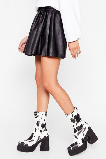 Black Cow's It Going Heeled Sock Boots