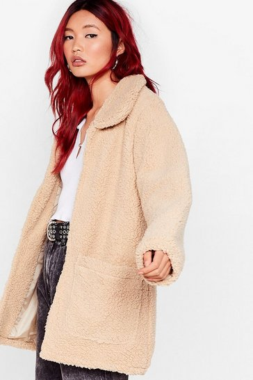 Caramel New Fleece of Life Faux Fur Coat
