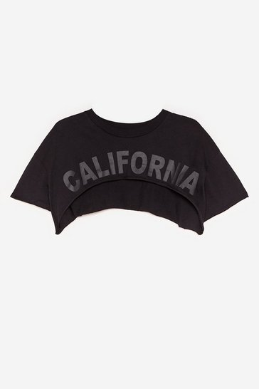 Black Crop It Real Relaxed Workout Tee