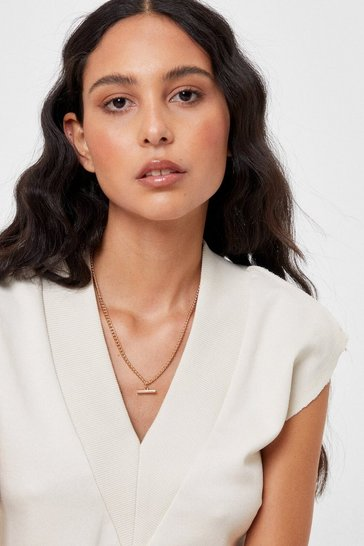 Gold Set the T-Bar High Chain Necklace