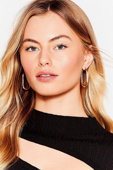 Gold We're Oval It Chunky Hoop Earrings