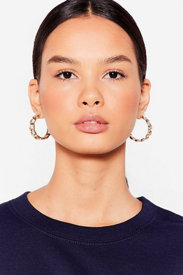 Silver Chain-ges Like the Weather Hoop Earrings