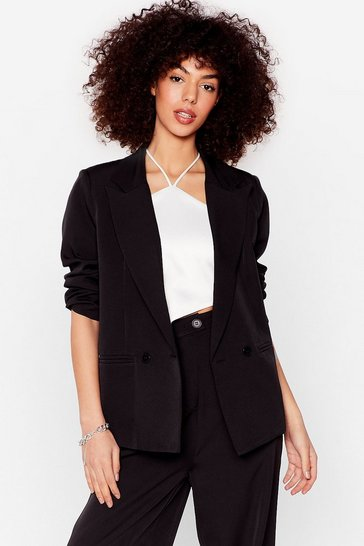 Black Tailored Button Down Blazer