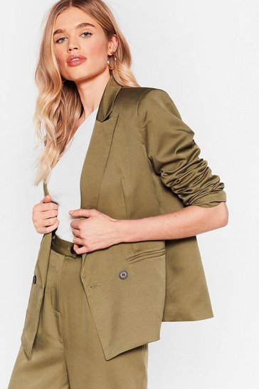 Olive What's Your Agenda Double Breasted Blazer