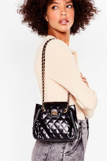 Black WANT Duvet Day Quilted Shoulder Bag