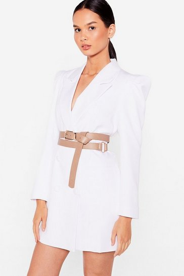 Stone That's a Wrap Faux Leather Buckle Belt