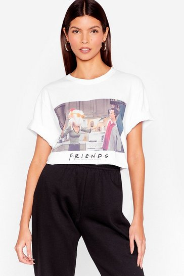 White Happy Holidays Friends Graphic Tee