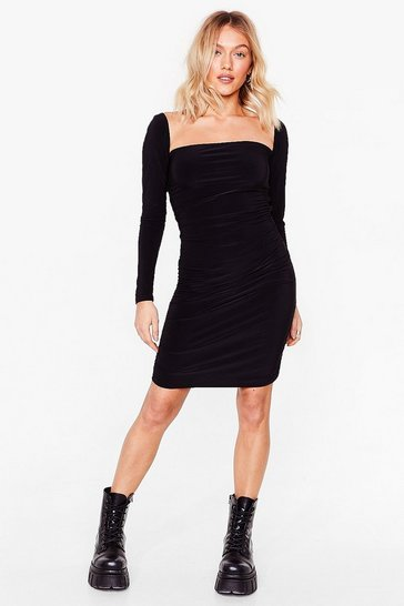Black Square is the Love Petite Mini Dress