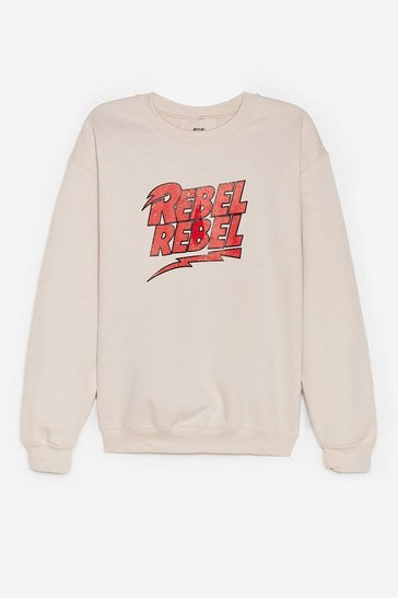 Sand Rebel Rebel Graphic Sweatshirt