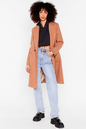 Camel Layer Your Love on Me Faux Wool Longline Coat