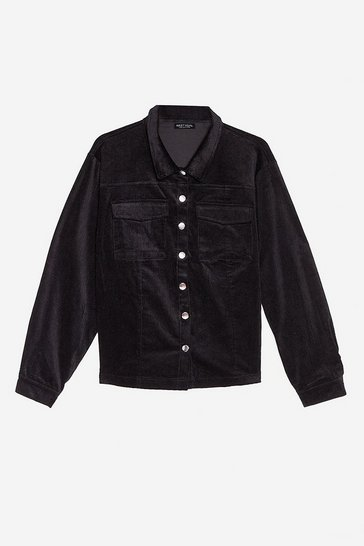 Black On Cord With It Relaxed Corduroy Jacket
