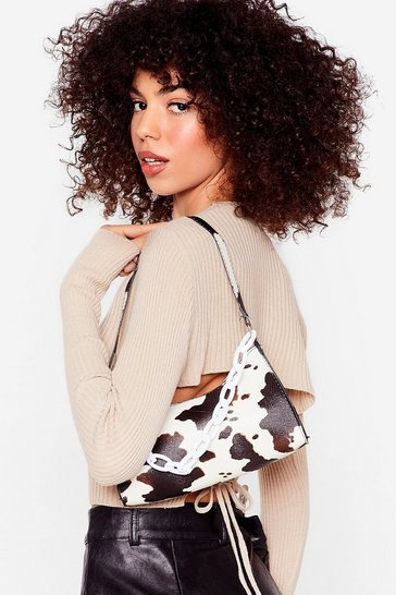 White WANT Saddle Up Cow Shoulder Bag