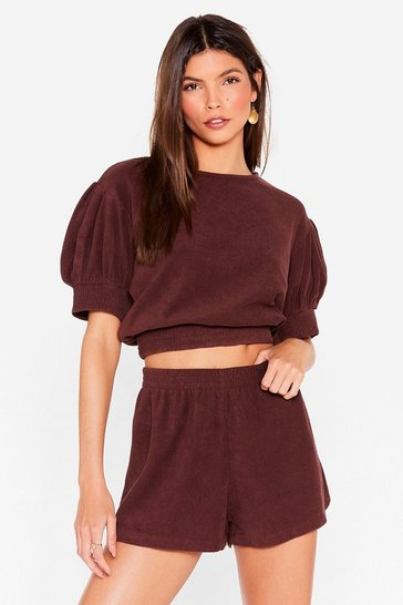 Chocolate Beach Top and Shorts Cover Up Set