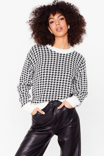 Stone Knit's All About Me Relaxed Houndstooth Jumper