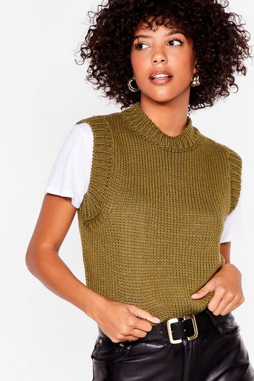 Sage Layer Up Knitted Tank Top