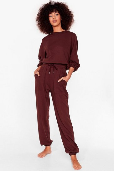 Chocolate You Make It Look So Easy Joggers Lounge Set