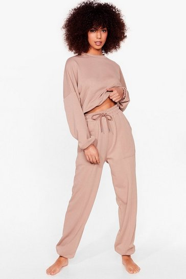 Mocha You Make It Look So Easy Joggers Lounge Set