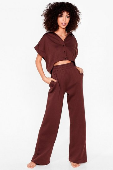 Chocolate You Know the Chill Wide-Leg Pants Lounge Set
