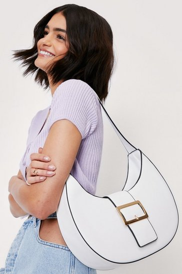 White WANT Make Your Own Buck-le Shoulder Bag
