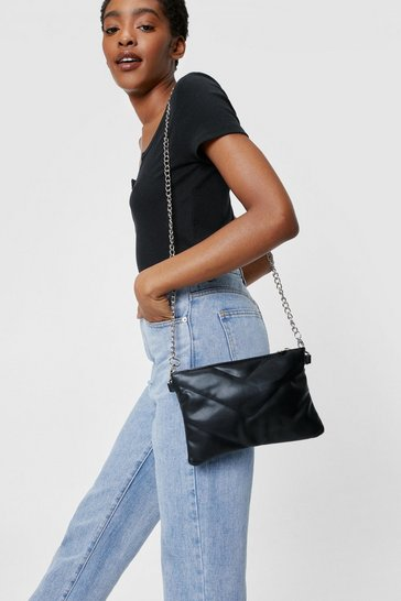 Black WANT All We Faux Leather Need Crossbody Bag