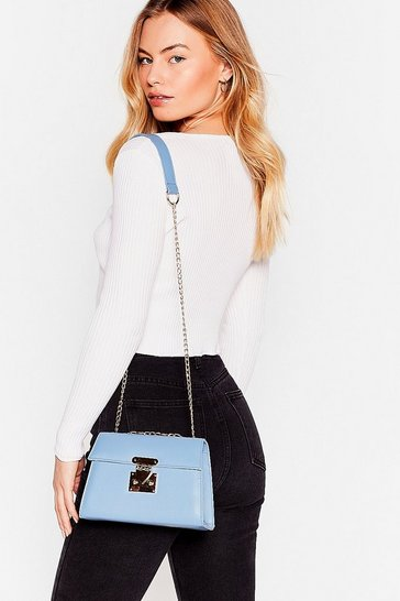 Blue WANT Chain Supreme Crossbody Bag