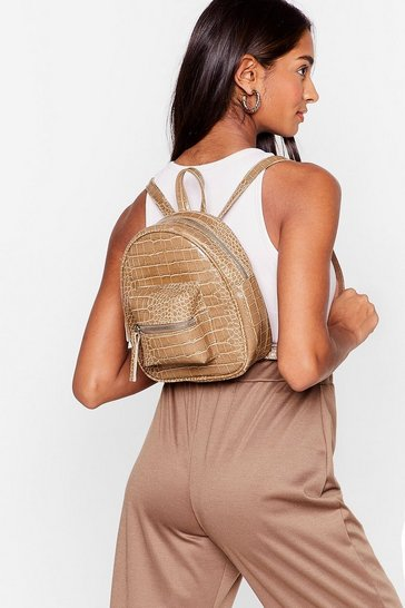 Nude WANT Croc On Baby Faux Leather Backpack