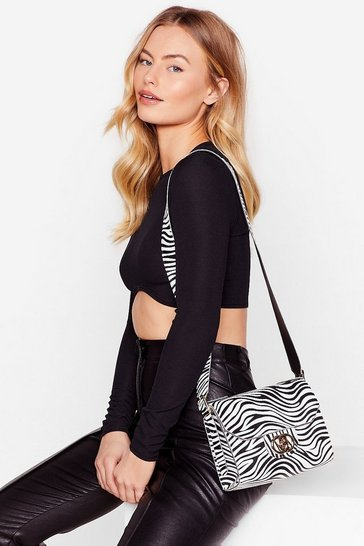 Black WANT We Faux Leather Forget Crossbody Bag