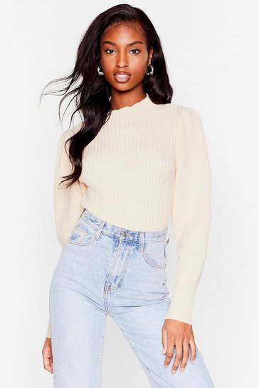 Oatmeal Knit's All Gonna Be Okay High Neck Sweater