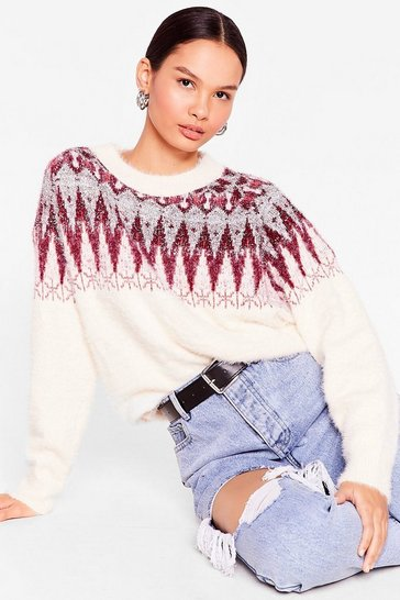 Red Feliz Navidad Fair Isle Christmas Sweater