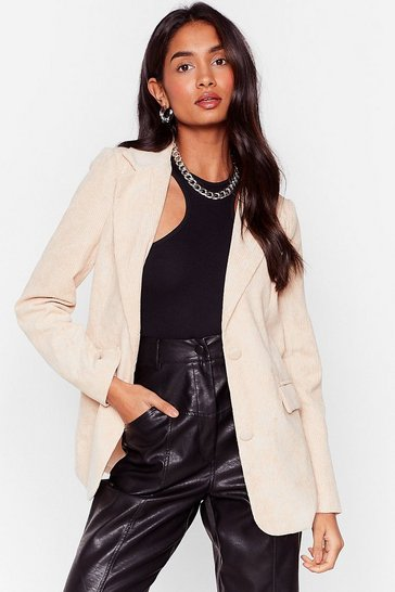 Stone All On Cord-uroy Relaxed Blazer