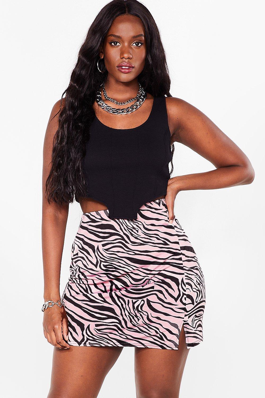 It's Gonna Be a Wild Night Zebra Mini Skirt 8