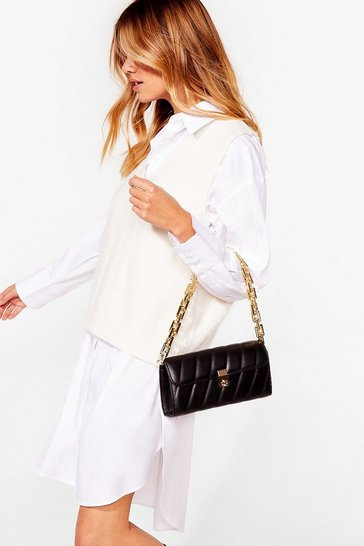 Black WANT Change My Mind Quilted Shoulder Bag