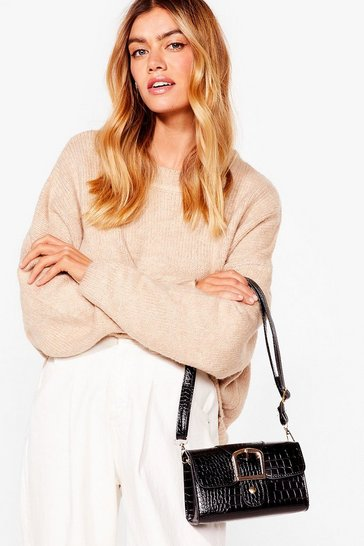 Black WANT Buckle Down Mini Shoulder Bag