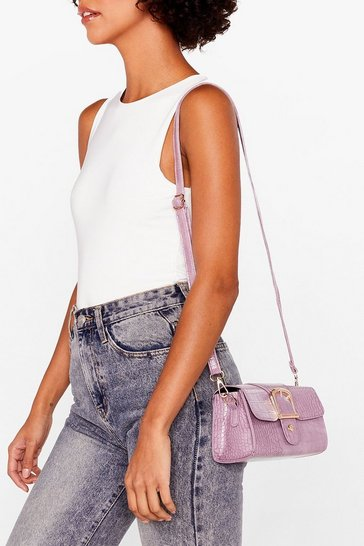 Lilac WANT Buckle Down Mini Shoulder Bag