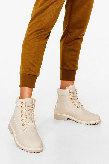Stone Tough Break Faux Suede Ankle Boots